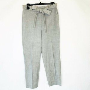J Crew Straight Pants Gray Heathered Tie Knot 8